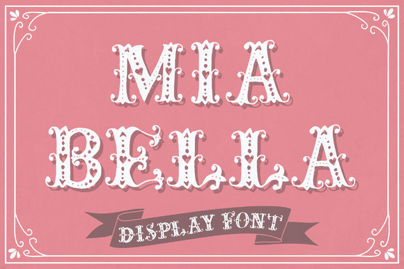 Print on Demand: Mia Bella Decorative Font By The Pen and Brush