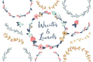 Modern Chic Floral Laurals and Wreaths Graphic By Amanda Ilkov