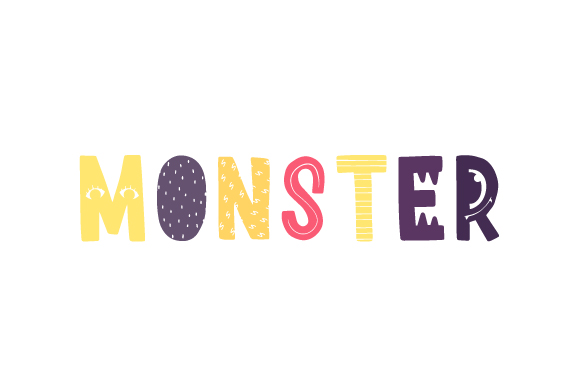 Monster Kids Craft Cut File By Creative Fabrica Crafts