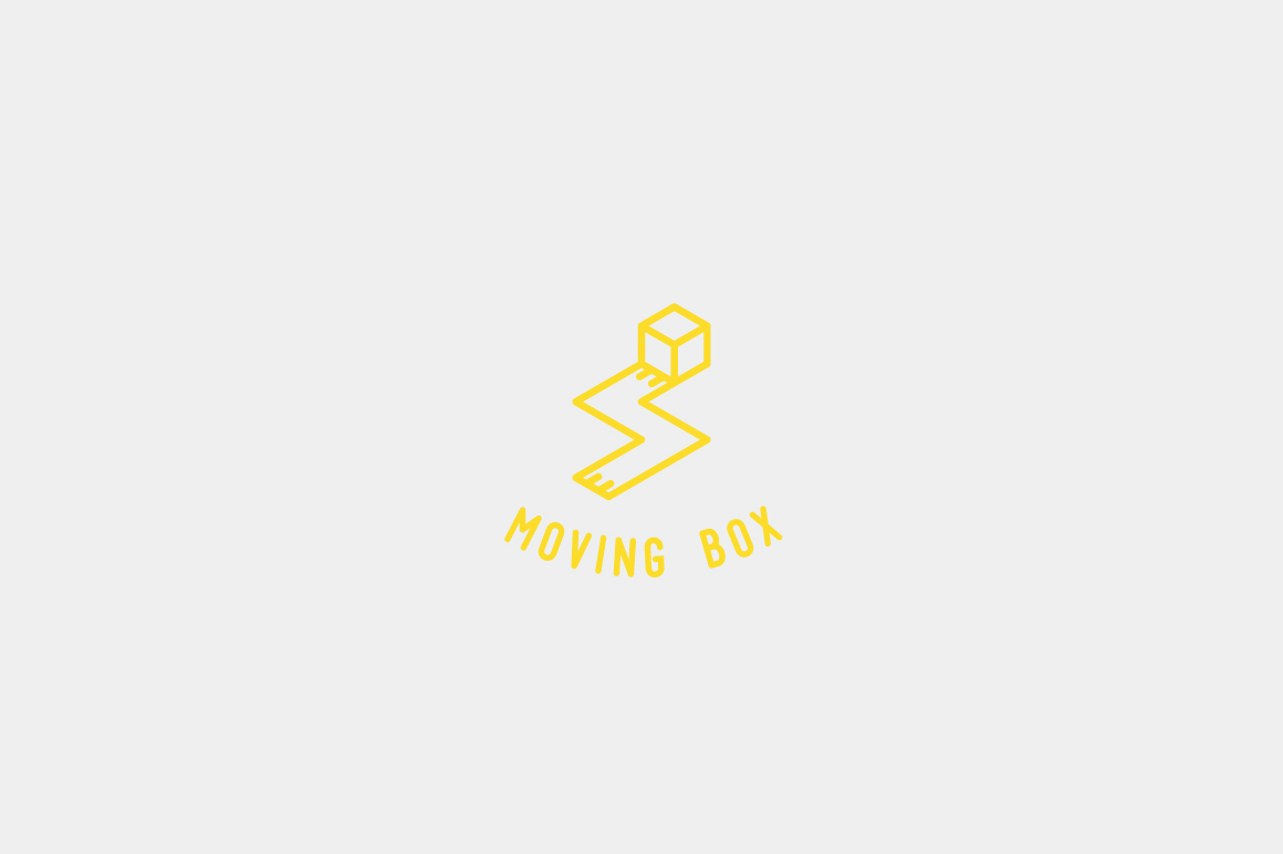 Download Free Moving Box Logo Template Graphic By Kreasimalam Creative Fabrica for Cricut Explore, Silhouette and other cutting machines.