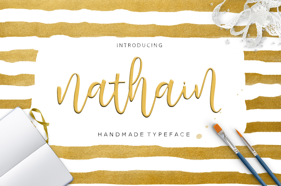 Print on Demand: Nathain Script & Handwritten Font By Youngtype