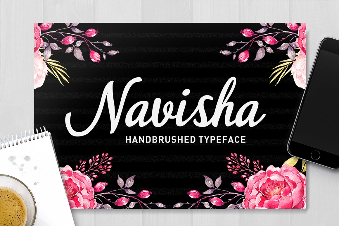 Print on Demand: Navisha Script Script & Handwritten Font By typehill - Image 1