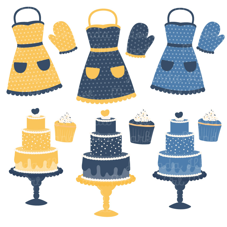 Download Free Navy Lemon Baking In The Kitchen Graphic By Amanda Ilkov for Cricut Explore, Silhouette and other cutting machines.