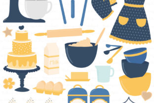 Download Free Navy Lemon Baking In The Kitchen Graphic By Amanda Ilkov SVG Cut Files