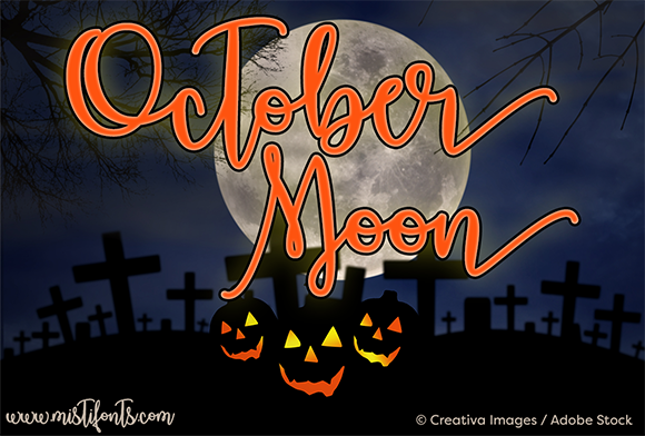 Print on Demand: October Moon Script & Handwritten Font By Misti