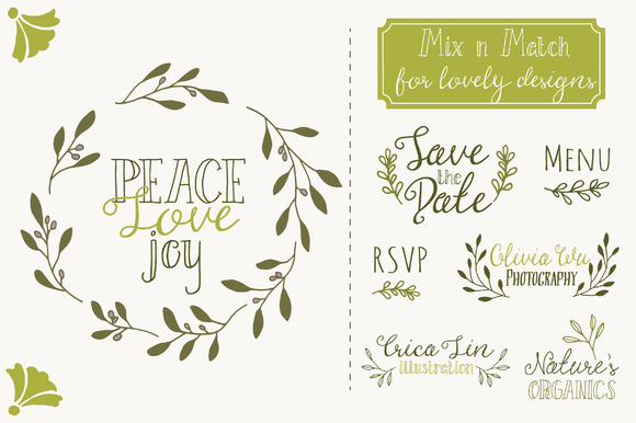 Download Free Olive Branch Set Graphic By The Pen And Brush Creative Fabrica for Cricut Explore, Silhouette and other cutting machines.