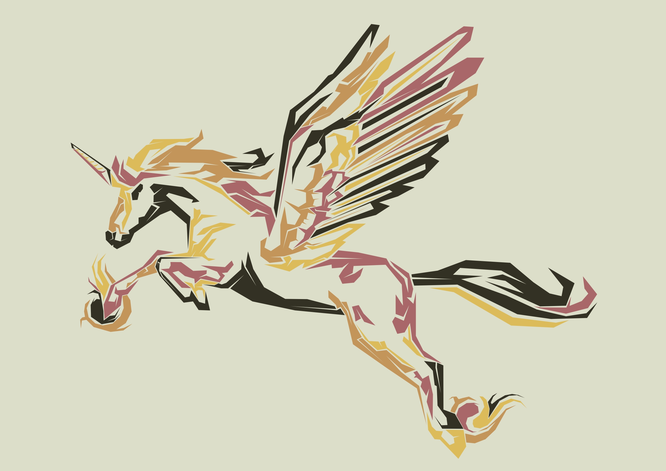 Print on Demand: Pegasus Pop Art Illustration Graphic Illustrations By Gblack Id