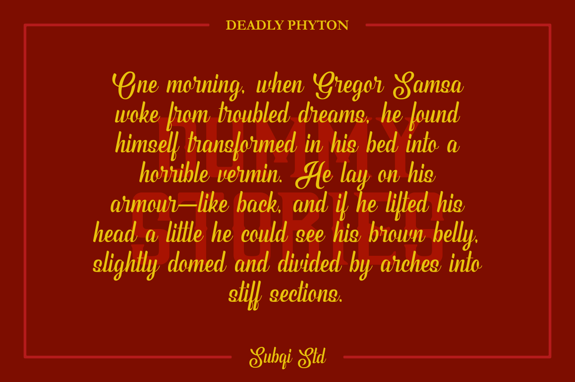 Phyton Font By Subqi Std Image 7