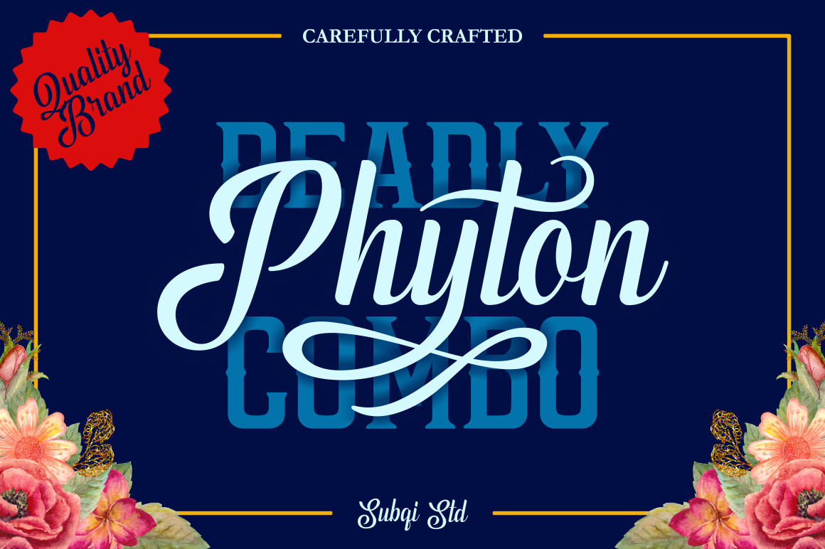 Print on Demand: Phyton Script & Handwritten Font By Subqi Std - Image 1