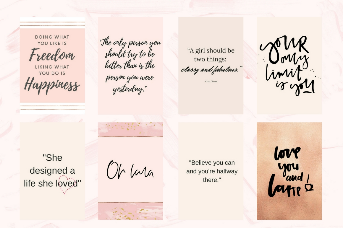 Pinterest Quotes Pack Graphic Graphic Templates By Creative Stash - Image 3
