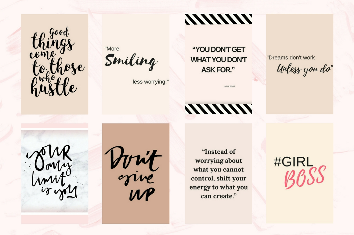 Pinterest Quotes Pack Graphic Graphic Templates By Creative Stash - Image 4