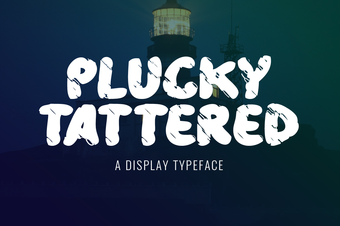 Print on Demand: Plucky Tattered Display Font By Contour Fonts