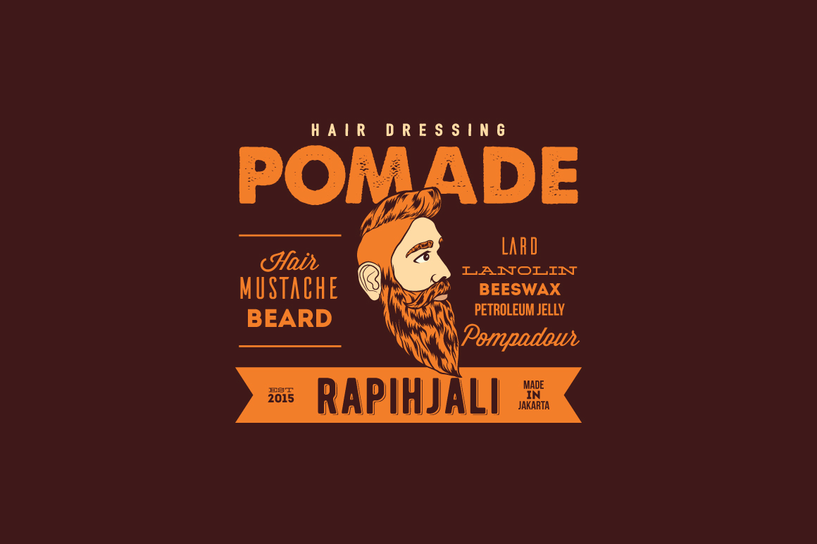 Download Free Pomade Logo Template Graphic By Kreasimalam Creative Fabrica for Cricut Explore, Silhouette and other cutting machines.