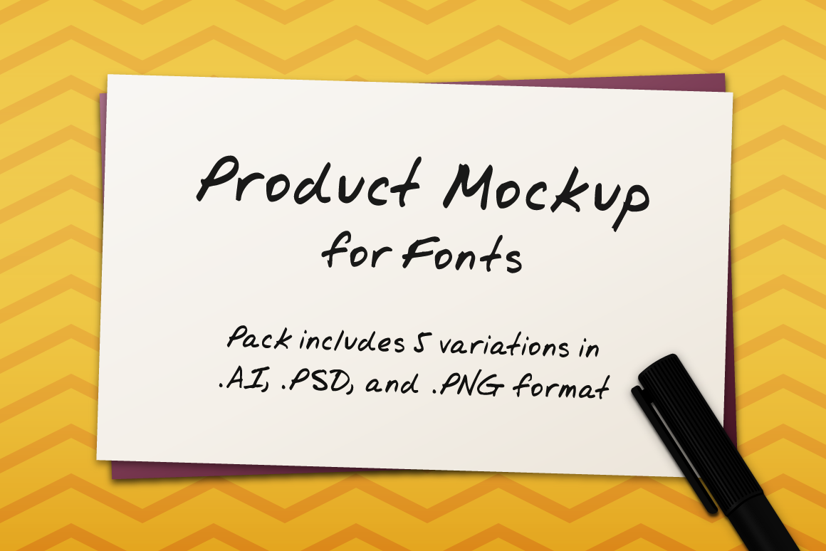 Product Mockup for Fonts Graphic Product Mockups By The Stock Croc