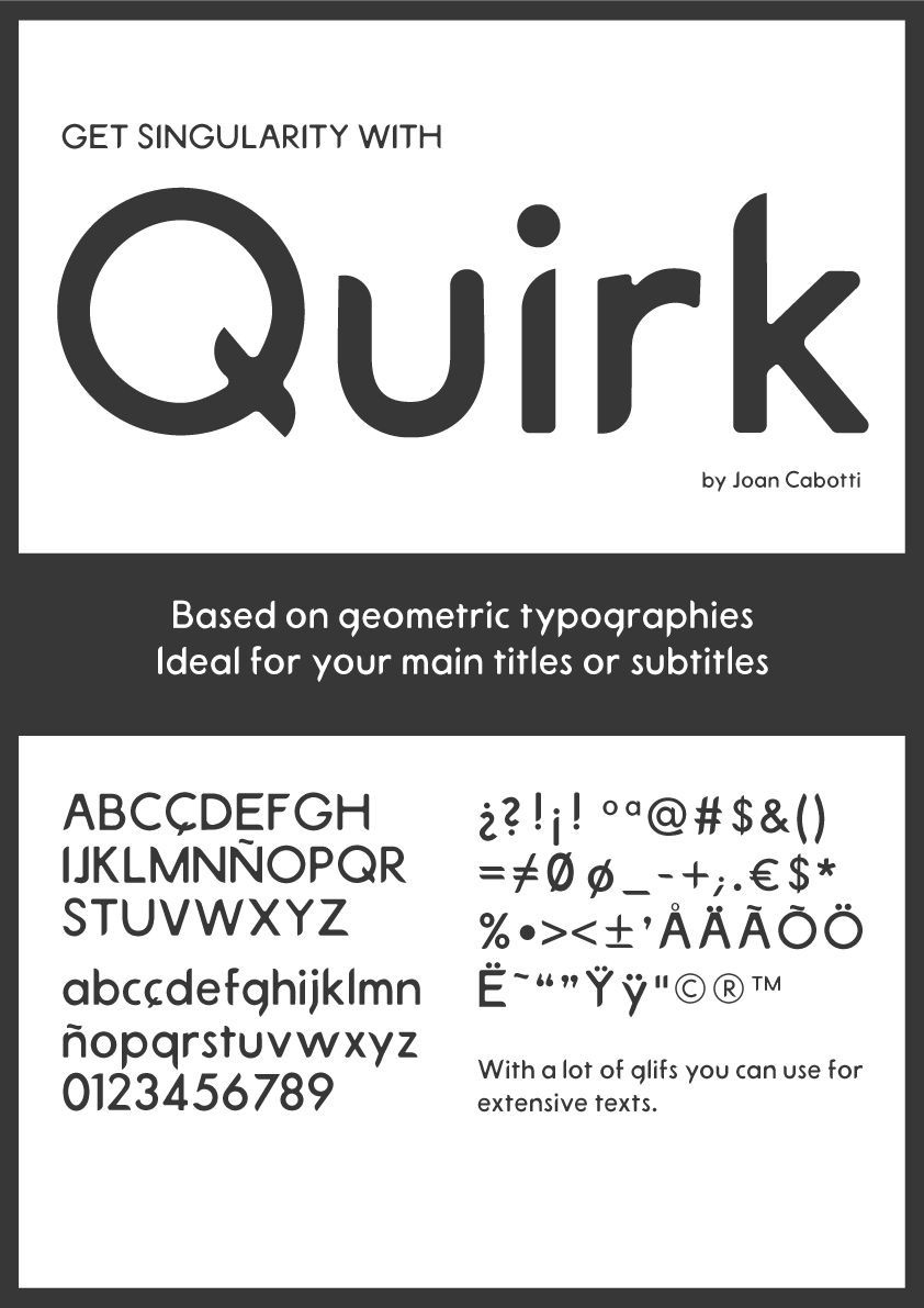 Print on Demand: Quirk Display Font By Joan Cabotti