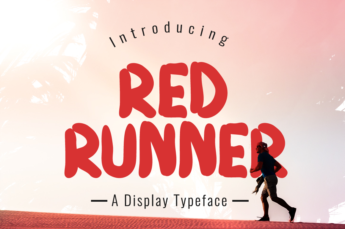 Print on Demand: Red Runner Display Font By Contour Fonts