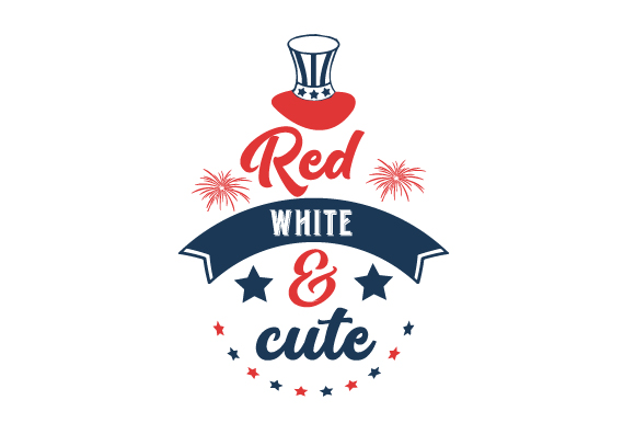 Red, White, and Cute Independence Day Craft Cut File By Creative Fabrica Crafts - Image 1