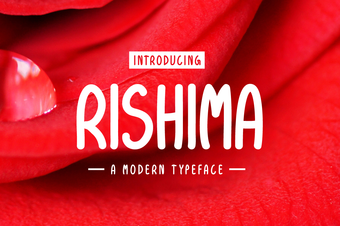 Print on Demand: Rishima Display Fuente Por Contour Fonts