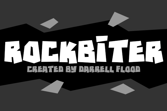 Print on Demand: Rockbiter Decorative Font By Dadiomouse