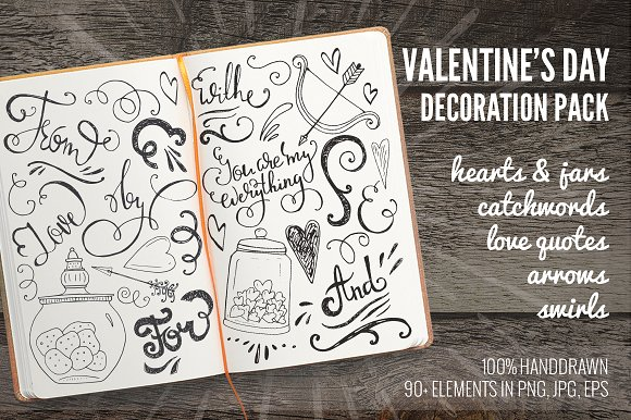 Romantic Swirls & Curls Pack Graphic Illustrations By Favete Art - Image 1