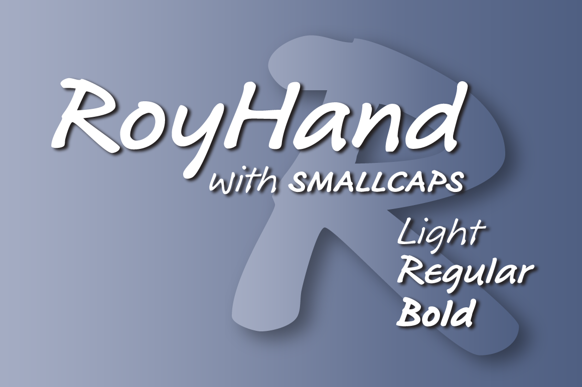 Print on Demand: RoyHand Family Script & Handwritten Font By BluHead Studio