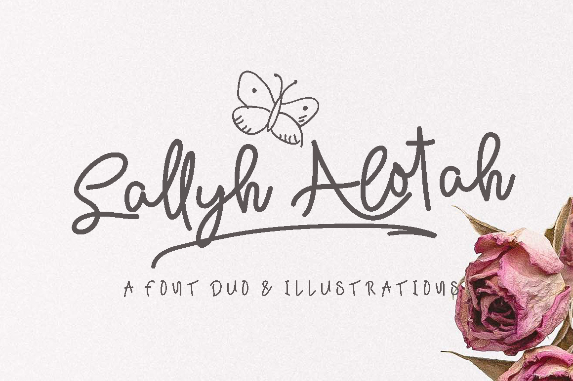 Print on Demand: Sallyh Alotah Script & Handwritten Font By missinklab