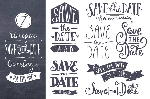 Download Free Save The Date Overlays Graphic By The Pen And Brush Creative SVG Cut Files