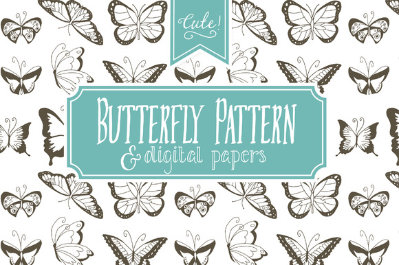 Download Free Seamless Butterfly Pattern Graphic By The Pen And Brush for Cricut Explore, Silhouette and other cutting machines.