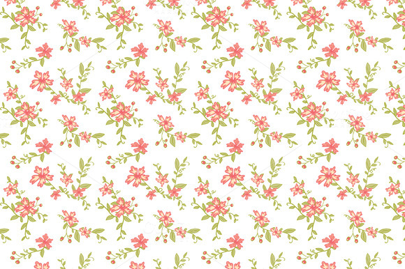 Download Free Seamless Vintage Floral Patterns Grafik Von The Pen And Brush for Cricut Explore, Silhouette and other cutting machines.