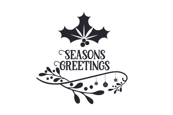 Seasons Greetings Christmas Craft Cut File By Creative Fabrica Crafts - Image 2