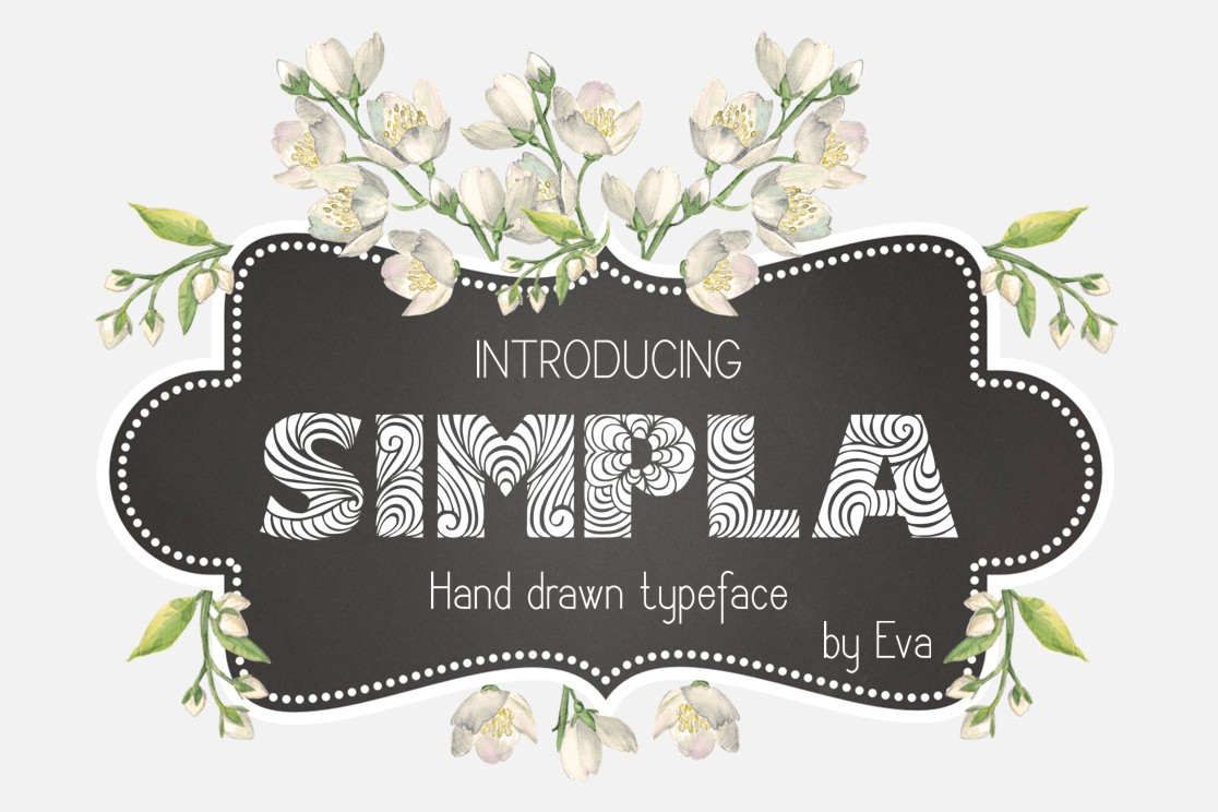 Print on Demand: Simpla Decorative Font By Eva Barabasne Olasz