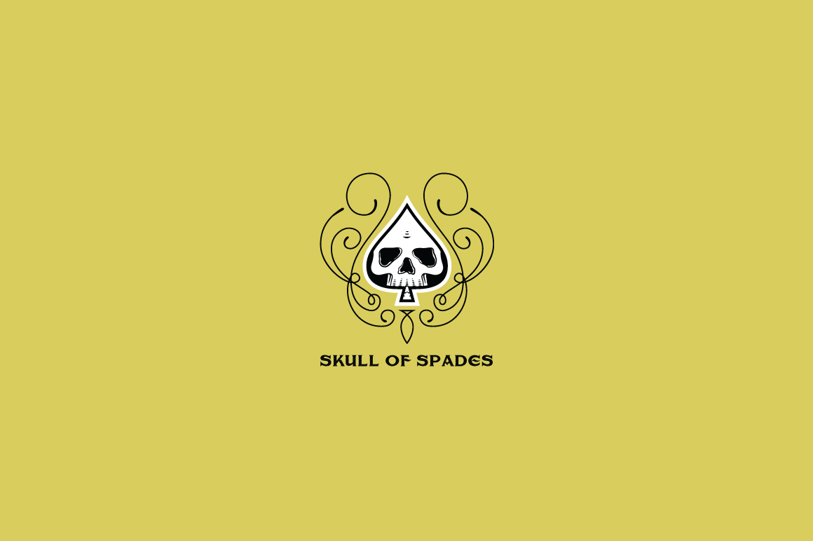 Download Free Skull Of Spades Logo Template Grafico Por Kreasimalam Creative for Cricut Explore, Silhouette and other cutting machines.