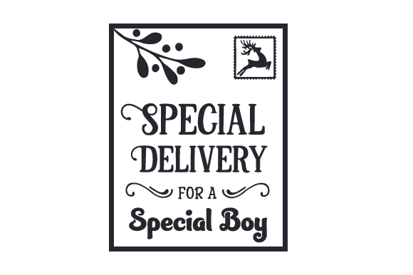 Download Free Special Delivery For A Special Boy Santa Bag Design Svg Cut for Cricut Explore, Silhouette and other cutting machines.