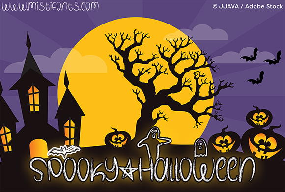 Download Free Spooky Halloween Font By Misti Creative Fabrica for Cricut Explore, Silhouette and other cutting machines.