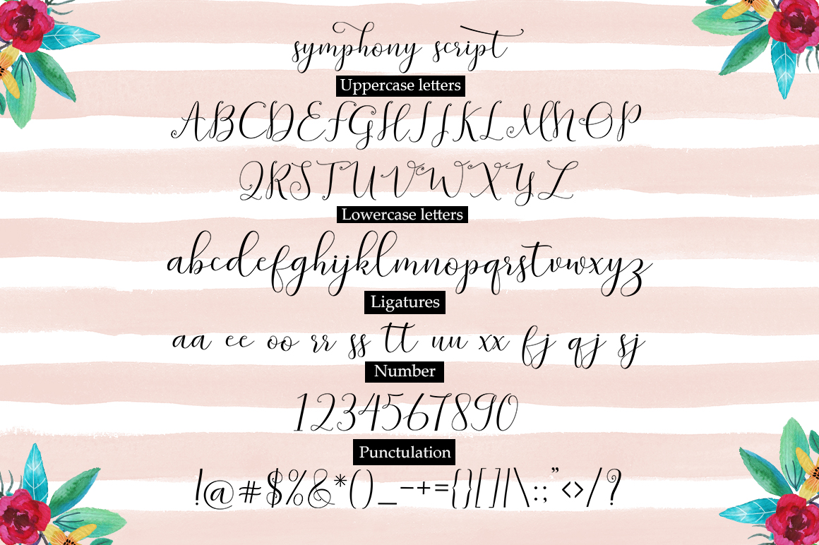 Print on Demand: Symphony Script & Handwritten Font By Great Studio - Image 8