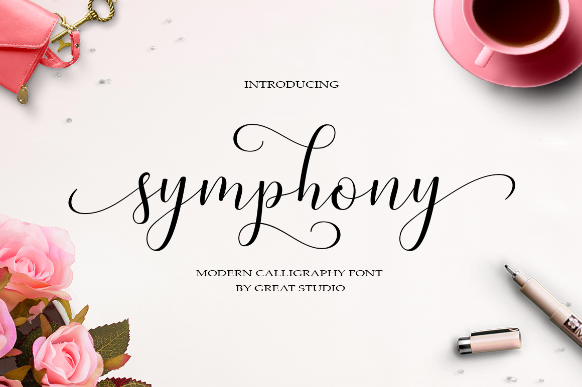 Print on Demand: Symphony Script & Handwritten Font By Great Studio - Image 1