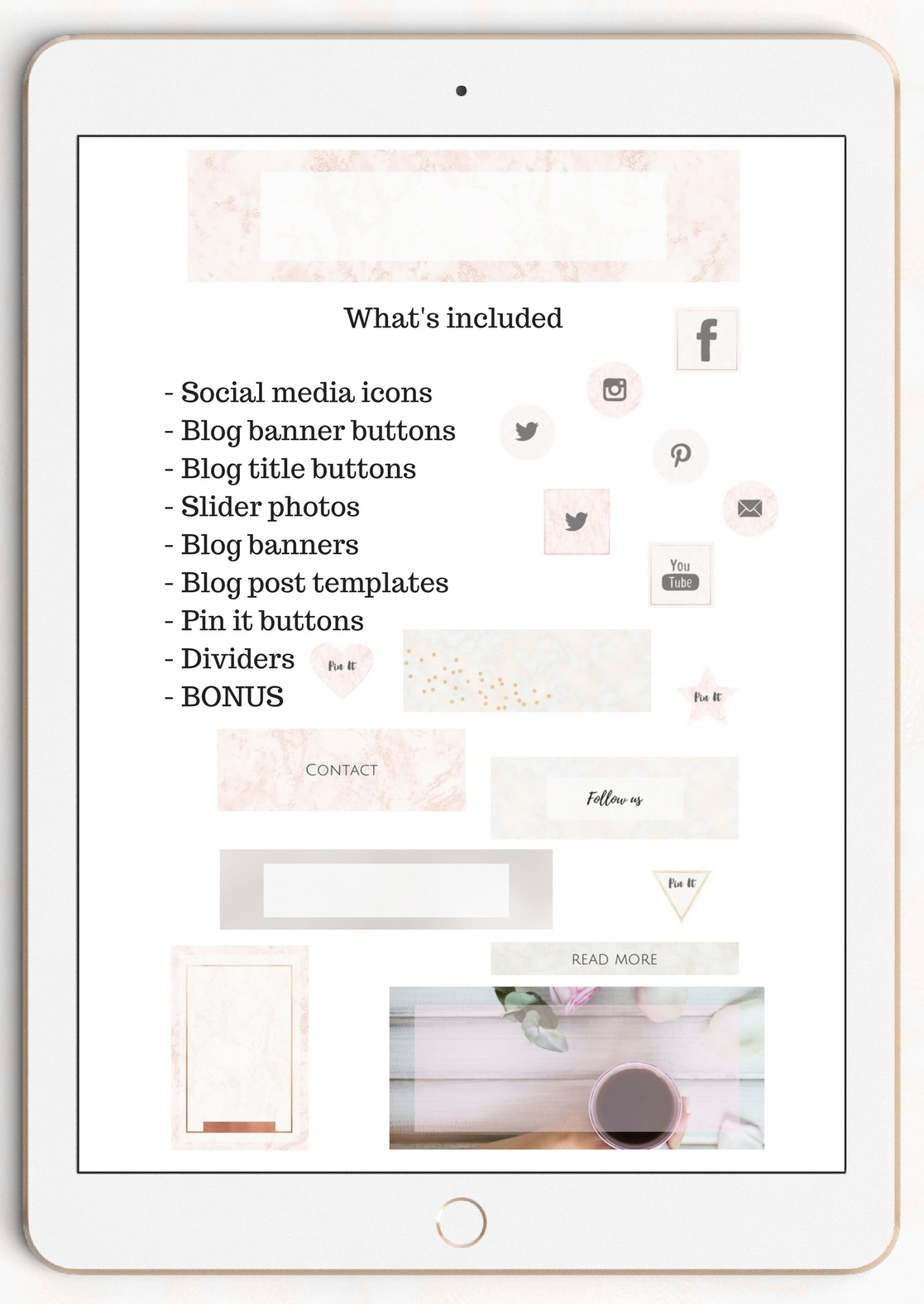 The Creative Blog Kit Graphic Web Elements By Creative Stash - Image 2