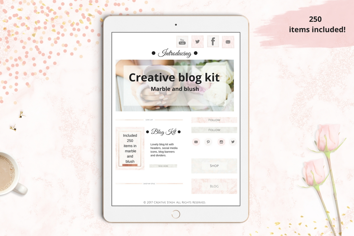 The Creative Blog Kit Graphic Web Elements By Creative Stash