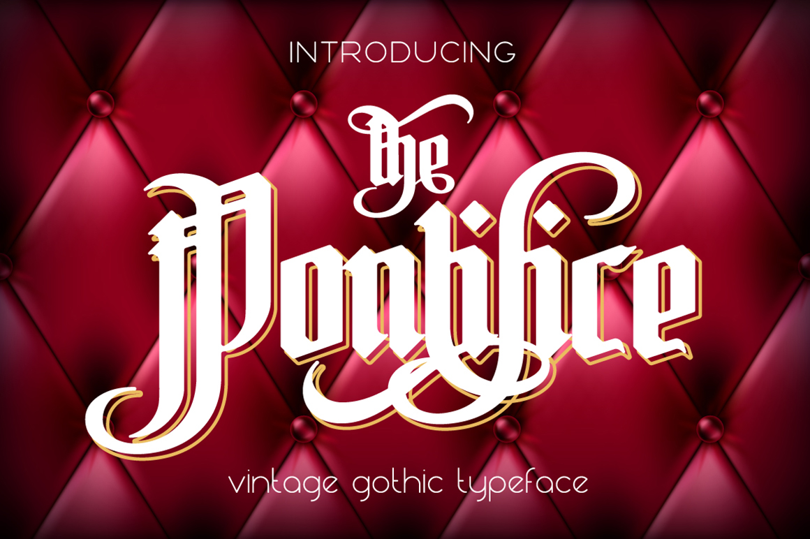 The Pontifice Blackletter Font By NREY