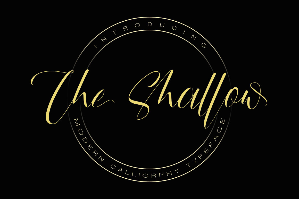Print on Demand: The Shallow Script & Handwritten Font By beeart009