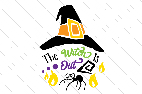 The Witch is out Halloween Craft Cut File By Creative Fabrica Crafts
