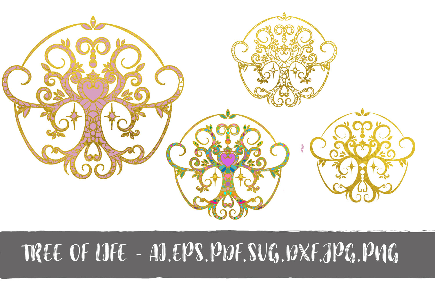 Download Free Tree Of Life Pack Graphic By Sintegra Creative Fabrica for Cricut Explore, Silhouette and other cutting machines.