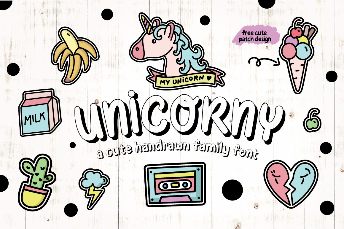 Print on Demand: Unicorny Display Font By Caoca Studios