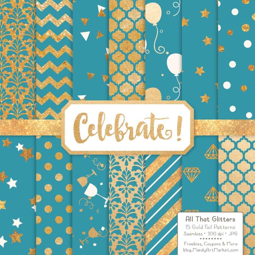 Download Free Navy Celebrate Gold Digital Paper Set Graphic By Amanda Ilkov for Cricut Explore, Silhouette and other cutting machines.