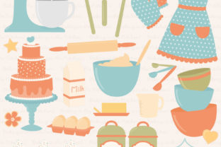Download Free Vintage Boy Baking In The Kitchen Graphic By Amanda Ilkov for Cricut Explore, Silhouette and other cutting machines.