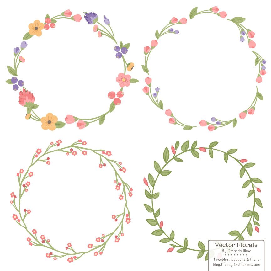Download Free Wildflowers Floral Laurals And Wreaths Graphic By Amanda Ilkov for Cricut Explore, Silhouette and other cutting machines.