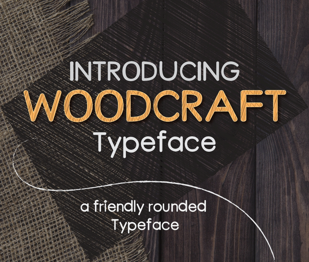 Print on Demand: WoodCraft Sans Serif Font By Asif