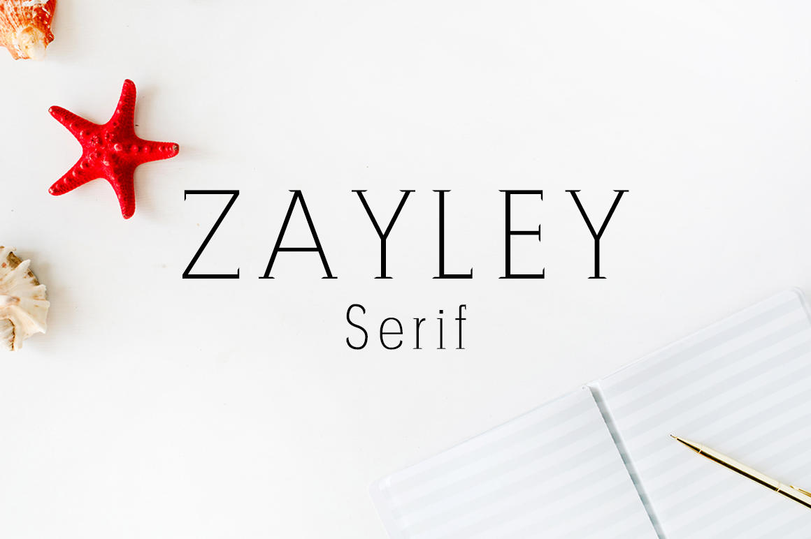 Print on Demand: Zayley Serif Font By Creative Tacos