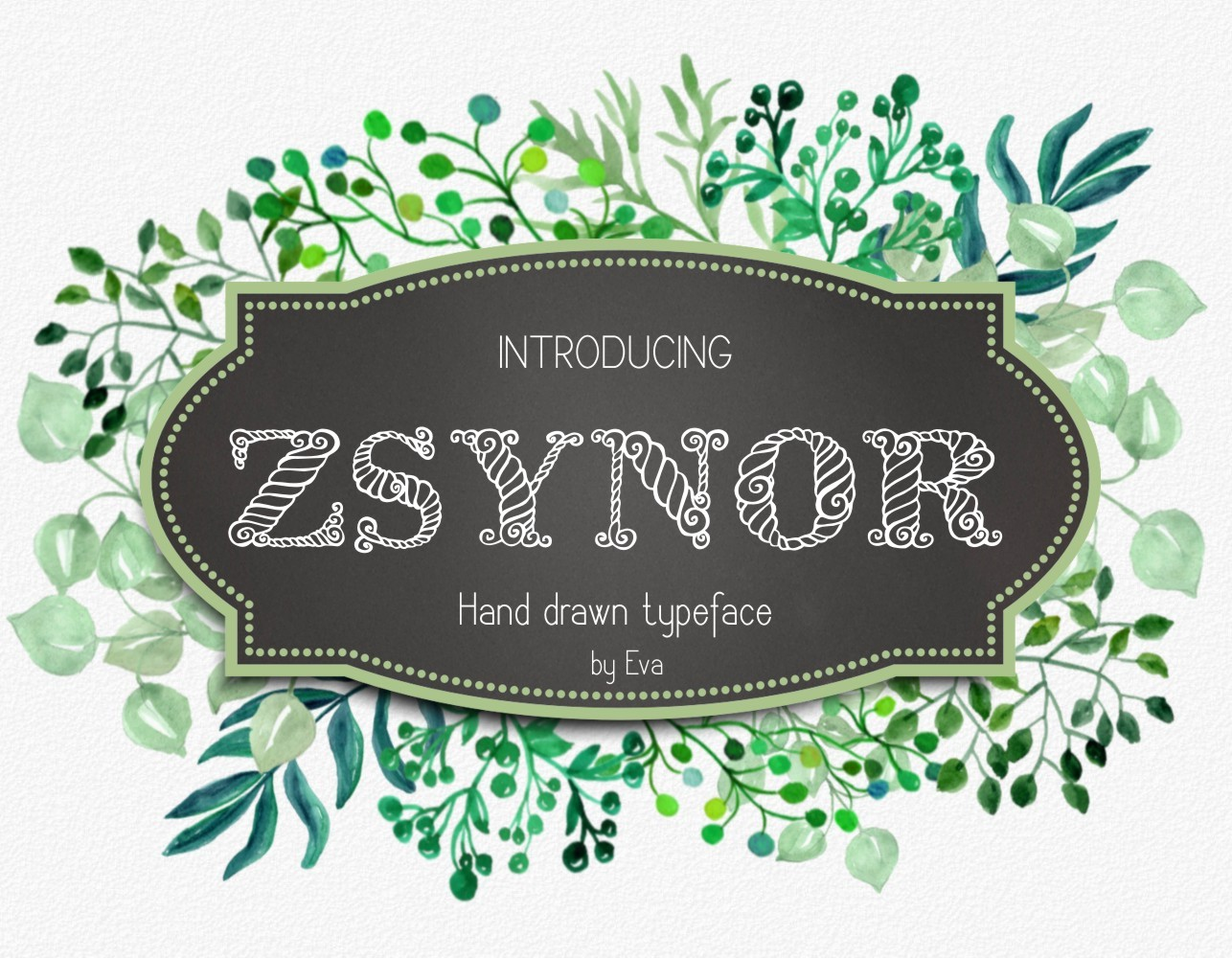 Print on Demand: Zsynor Decorative Font By Eva Barabasne Olasz