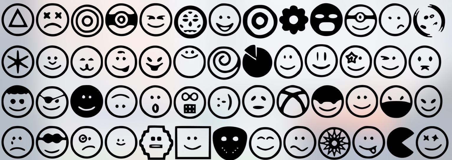 Print on Demand: 52 Fun Emoji Smiley Faces Graphic Icons By GraphicsBam Fonts